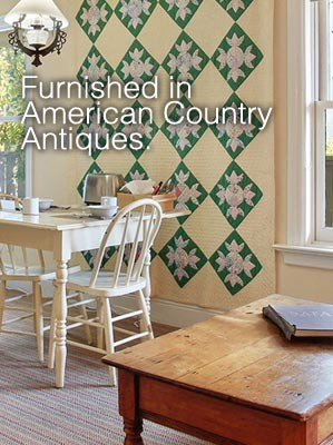 Annies Cottage furnished in American Country Antiques